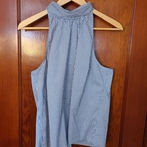 NEW 41 Hawthorne pale blue tank with tie closure